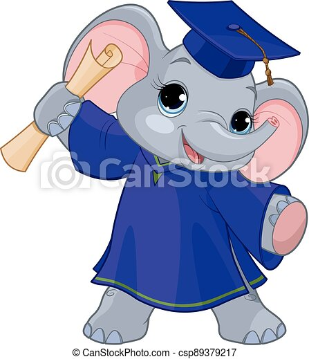 laureati, elefante - csp89379217