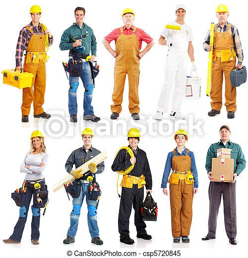 lavorante, appaltatori, persone - csp5720845