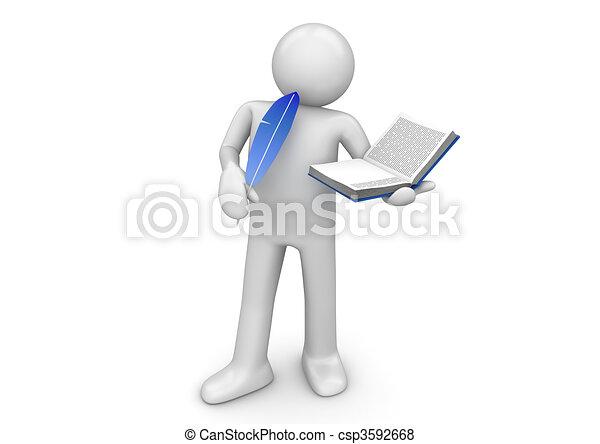 lavorante, scrittore, -, collezione - csp3592668