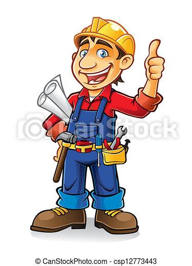 lavoratore costruzione - csp12773443
