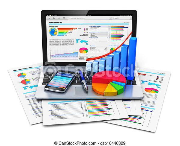lavoro ufficio, mobile, concetto - csp16446329