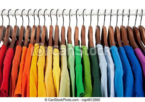 legno, arcobaleno, copre ganci, colori - csp4812960