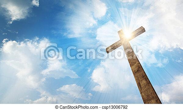 legno, cielo, croce - csp13006792