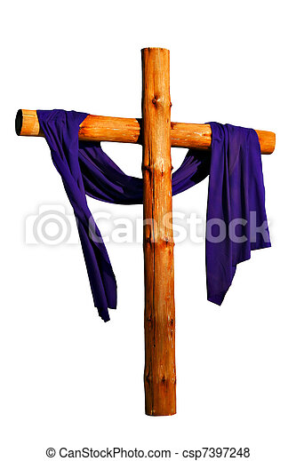 legno, croce, isolato - csp7397248
