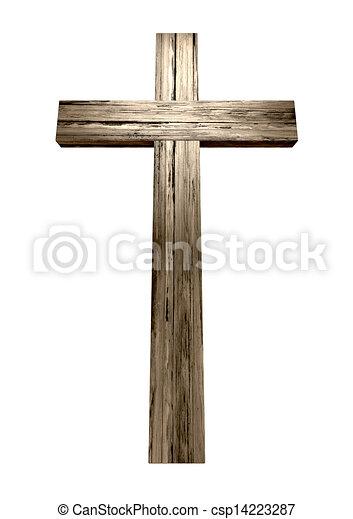 legno, crocifisso - csp14223287