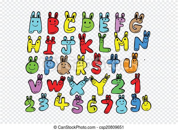lettere, scritto, mano, penna, disegnato, font - csp20809651