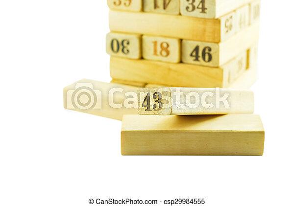 letterpress, legno - csp29984555