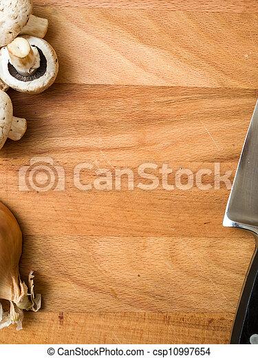 lezione preparare cibo, fondo - csp10997654