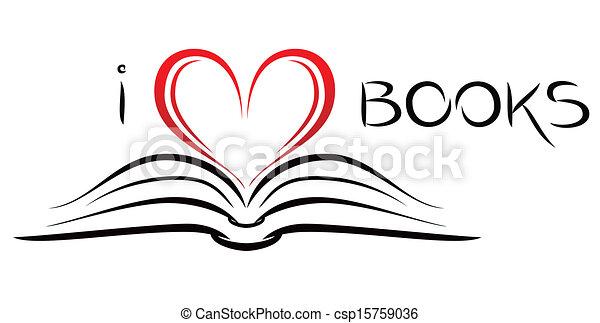 libri, amore - csp15759036