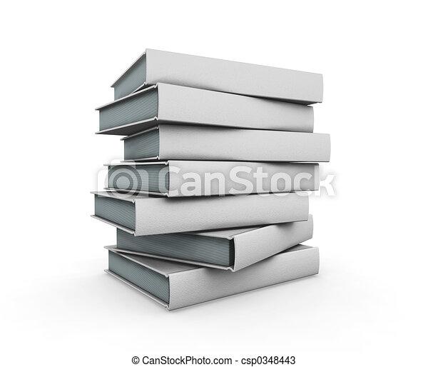libri, pila - csp0348443