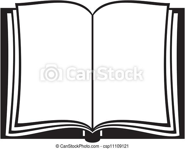libro, aperto - csp11109121