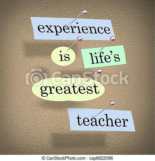 life's, -, esperienza, vivere, più grande, educazione, insegnante - csp6622096
