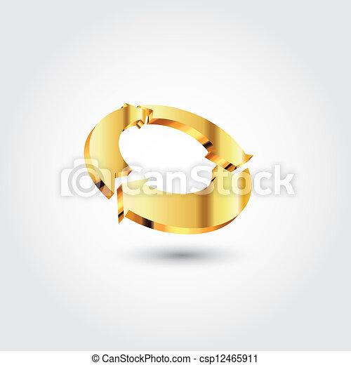 logotipo, cerchio, freccia - csp12465911