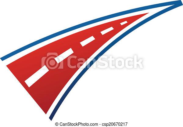logotipo, immagine, striscia, strada - csp20670217