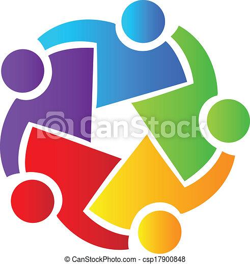 logotipo, lavoro squadra, persone affari - csp17900848
