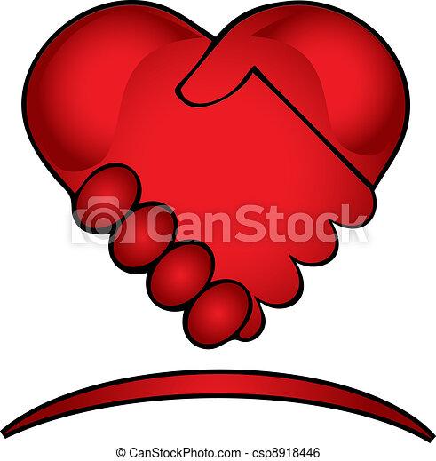 logotipo, mani, creativo, scuotere - csp8918446