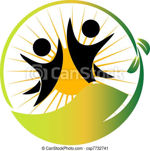 logotipo, squadra, vettore, natura - csp7732741