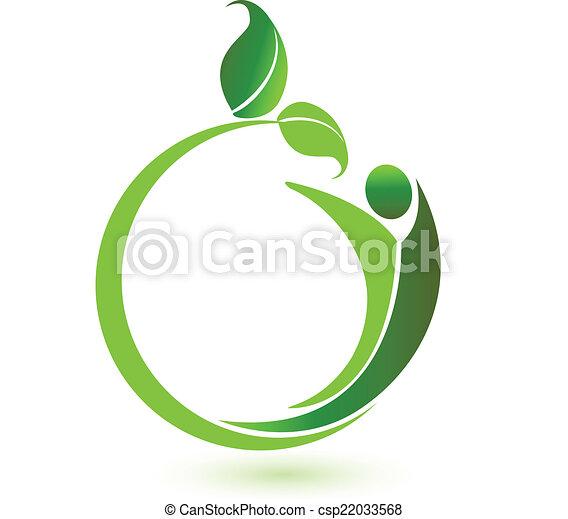 logotipo, vettore, salute, natura - csp22033568