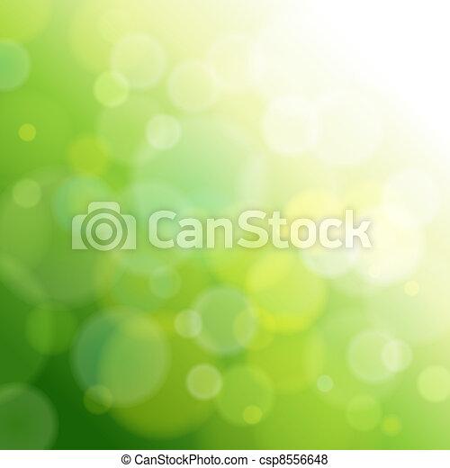 luce, astratto, verde, fondo. - csp8556648
