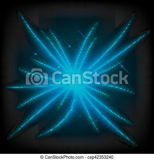 luce blu, astratto, illustrazione, trave, vettore - csp42353240