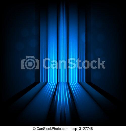 luce blu, astratto, linee, fondo - csp13127748