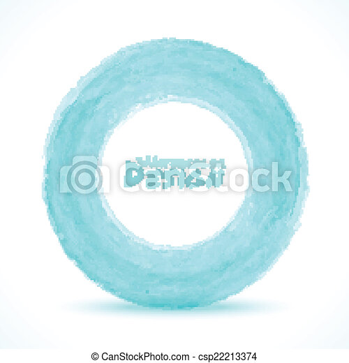 luce blu, -, mano, acquarello, verde, disegnato, cerchio - csp22213374