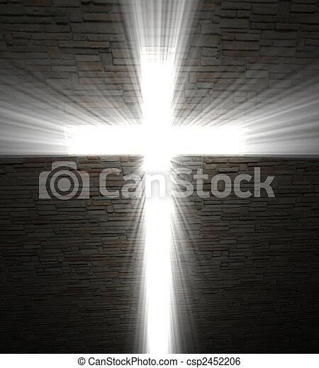 luce, cristiano, croce - csp2452206