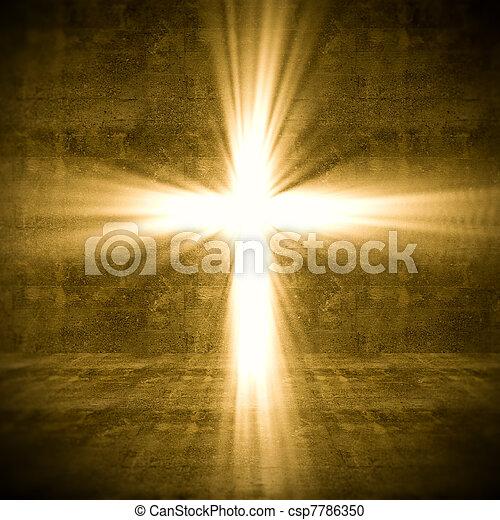 luce, croce - csp7786350