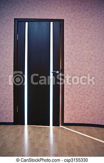 luce, dietro, porta - csp3155330