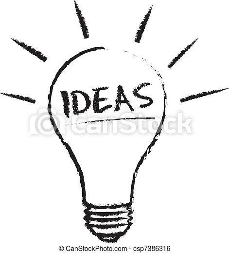 luce, idea, bulbo - csp7386316