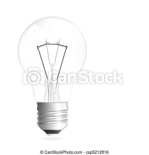 luce, illustrazione, bulbo - csp5212816