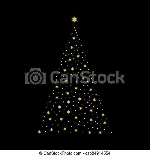 luce, natale, illustrazione, vettore, albero, fondo. - csp84914554