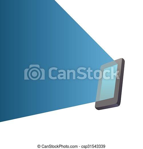 luce, schermo, trave - csp31543339