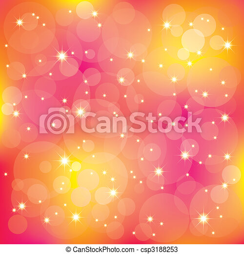 luce, sfavillante, fondo, colorito, stelle - csp3188253