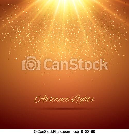 luci, astratto, fondo - csp18100168