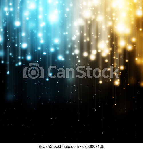 luci blu, oro - csp8007188