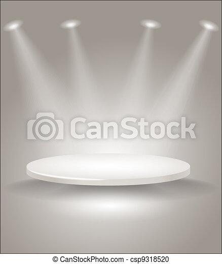 luci, luminoso, macchia, palcoscenico - csp9318520