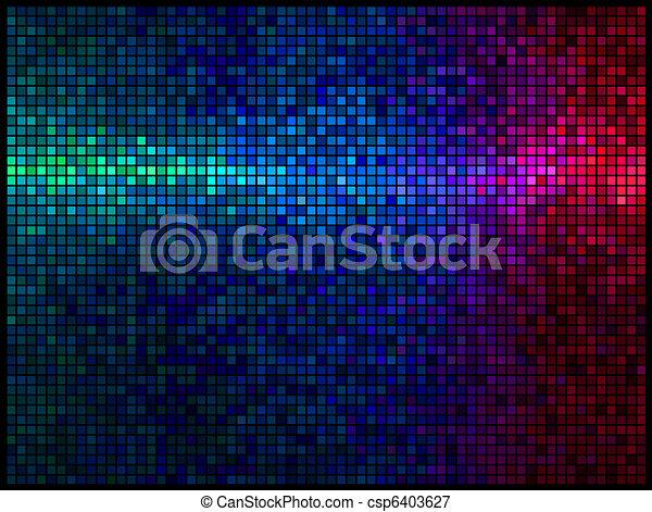 luci, multicolor, astratto, fondo, discoteca - csp6403627