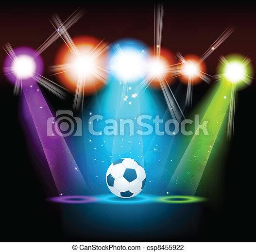 luminoso, palla, fondo - csp8455922