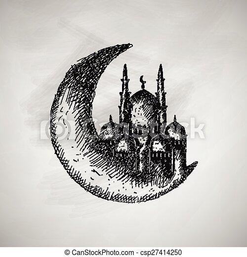 luna, icona - csp27414250