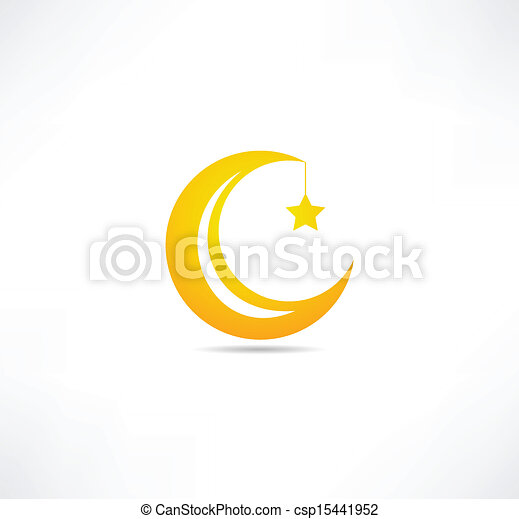 luna, stella, icona - csp15441952