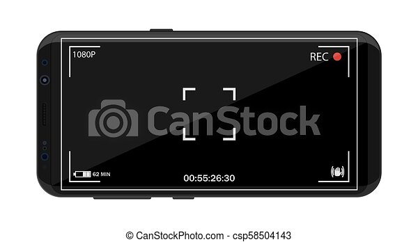 macchina fotografica, smartphone, application., moderno - csp58504143