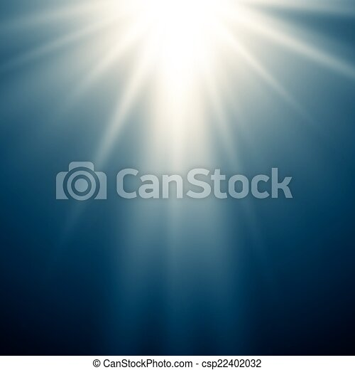 magia, fondo, astratto, luce blu - csp22402032