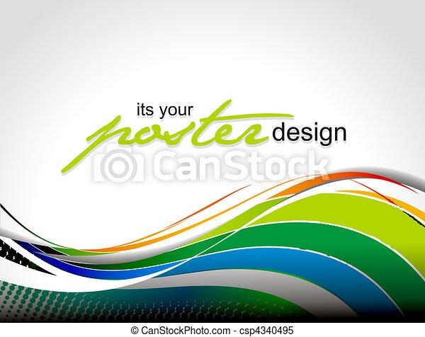 manifesto, disegno - csp4340495