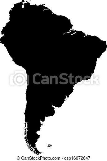 mappa, america, nero, sud - csp16072647