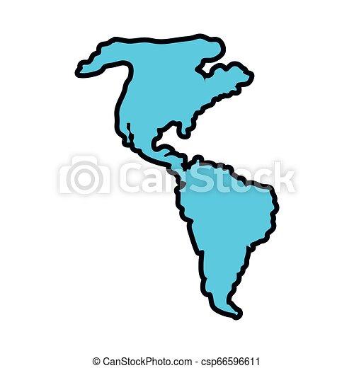 mappa, americano, continente, icona - csp66596611