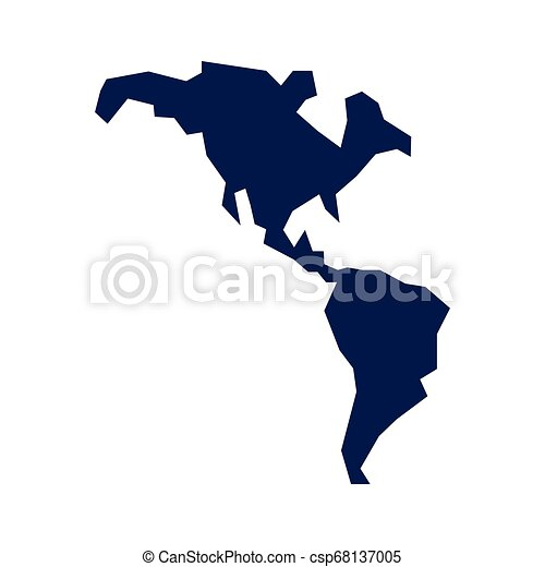 mappa, americano, continente, icona - csp68137005