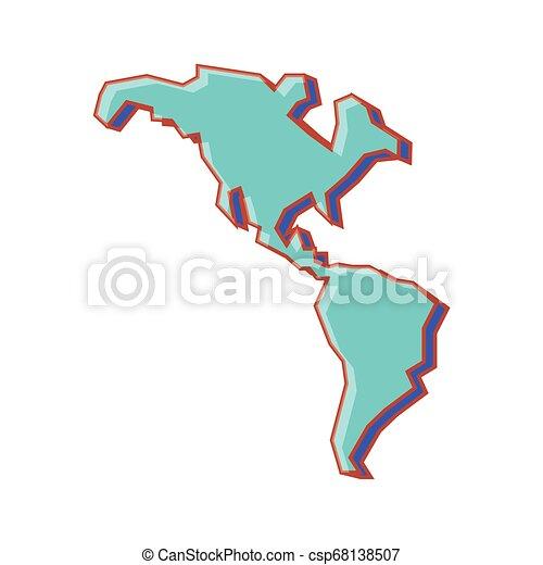 mappa, americano, continente, icona - csp68138507
