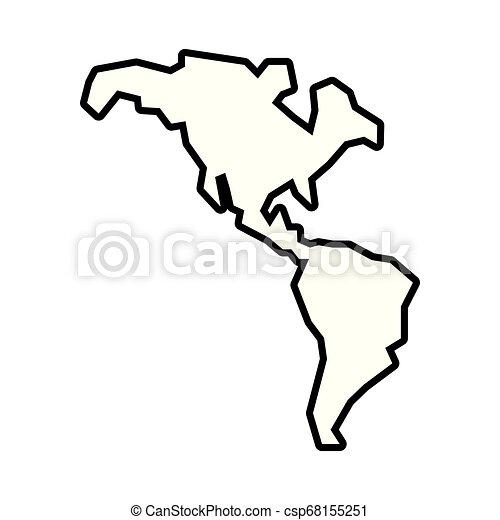 mappa, americano, continente, icona - csp68155251