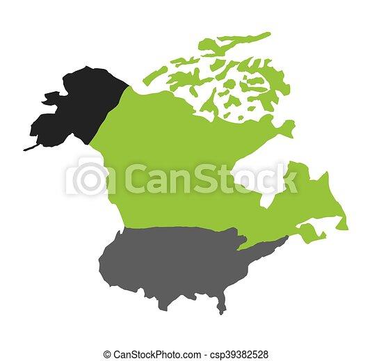 mappa, americano, nord, isolato, icona - csp39382528
